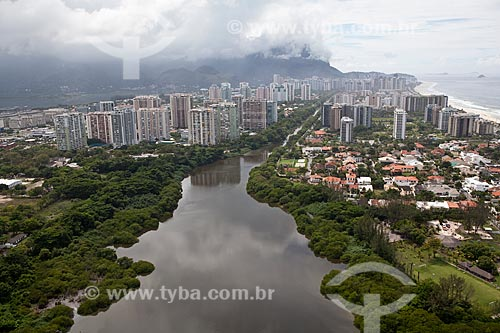 Assunto: Vista aérea do canal de Marapendi  / Local: Barra da Tijuca - Rio de Janeiro (RJ) - Brasil / Data: 03/2011