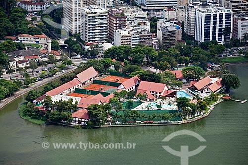 Assunto: Vista aérea do Clube Naval Piraquê / Local: Lagoa - Rio de Janeiro (RJ) - Brasil / Data: 03/2011