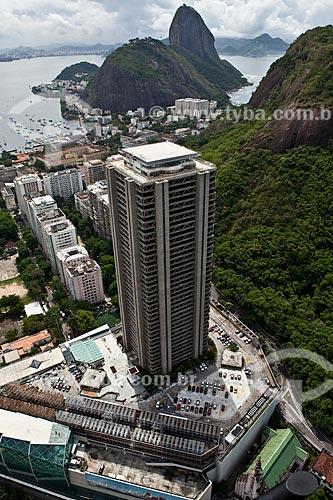 Assunto: Vista aérea da Torre Rio Sul ao fundo Pão de Açúcar  / Local: Botafogo - Rio de Janeiro (RJ) - Brasil / Data: 03/2011