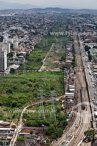 Assunto: Vista do terreno da Via Light e estrada de ferro central do Brasil / Local: Madureira - Rio de Janeiro (RJ) - Brasil / Data: 03/2011