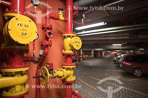 Assunto: Equipamento contra incêndio no estacionamento do Itaú Power ShoppingLocal: Belo Horizonte - Minas Gerais - MG - BrasilData: 03 / Local: Belo Horizonte - Minas Gerais (MG) - Brasil / Data: 03/2011