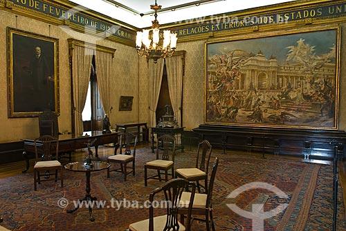 Assunto: Sala de reunião do Barão do Rio Branco no Palácio Itamaraty / Local: Centro - Rio de Janeiro (RJ) - Brasil  / Data: 12/2009