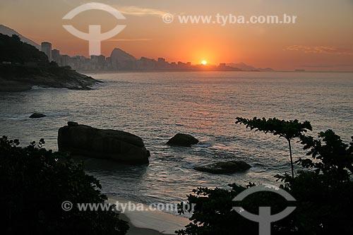 Assunto: Vista do Hotel Sheraton para Praia do Vidigal / Local: Rio de Janeiro (RJ) - Brasil / Data: 04/2011