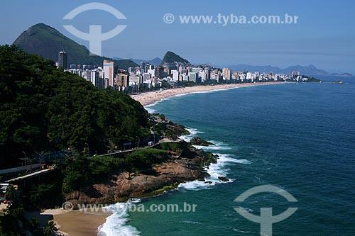 Assunto: Vista do Hotel Sheraton para as praias do Leblon e Ipanema com parte da Avenida Niemeyer / Local: Rio de Janeiro (RJ) - Brasil / Data: 04/2011