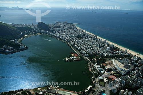 Assunto: Vista aérea da Lagoa Rodrigo de Freitas e das praias de Ipanema e Leblon / Local: Rio de Janeiro - RJ - Brasil / Data: 02/2011