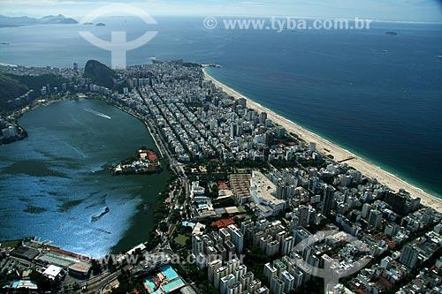 Assunto: Vista aérea da Lagoa Rodrigo de Freitas e das praias de Ipanema e Leblon / Local: Rio de Janeiro (RJ) - Brasil / Data: 02/2011