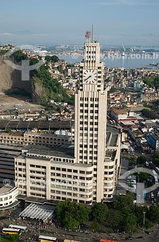 Assunto: Vista aérea do prédio da Estação Central do Brasil / Local: Centro -  Rio de Janeiro  (RJ) -  Brasil  / Data: 11/2009