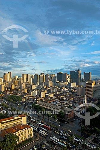 Assunto: Vista aérea da Avenida Presidente Vargas com Escola Municipal Rivadávia Corrêa e Biblioteca Pública do Estado / Local: Centro - Rio de Janeiro (RJ) - Brasil  / Data: 12/2009
