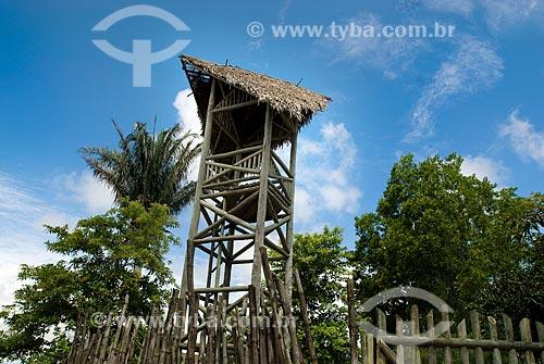 Assunto: Torre de madeira no Quilombo dos Palmares - Serra da Barriga  / Local: União dos Palmares - Alagoas (AL) - Brasil / Data: 04/2010