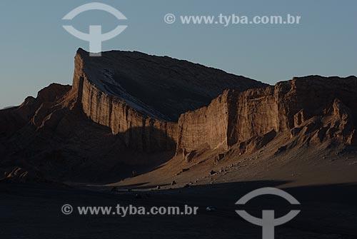 Assunto: Crepúsculo no Vale da Lua (Valle de la Luna)  / Local: Chile - América do Sul / Data: 01/2011