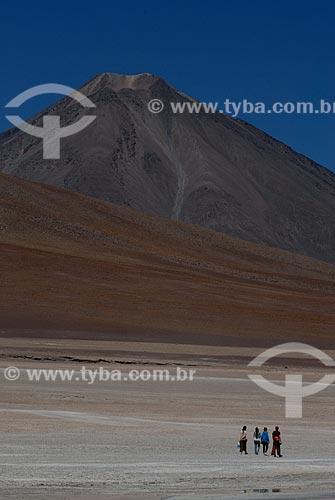 Assunto: Turistas na Lagoa Branca (Laguna Blanca)  / Local: Bolívia - América do Sul / Data: 01/2011