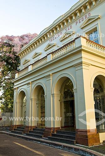 Assunto: Fachada do Theatro São Pedro / Local: Porto Alegre - Rio Grande do Sul (RS) - Brasil / Data: 03/2008