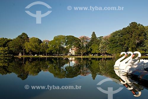Assunto: Pedalinho em forma de cisne no Parque Farroupilha / Local: Porto Alegre - Rio Grande do Sul (RS) - Brasil / Data: 03/2008
