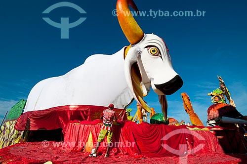 Assunto: Carro alegórico do Boi Garantido antes da apresentação no festival folclórico / Local: Parintins - Amazonas (AM) - Brasil / Data: 06/2010