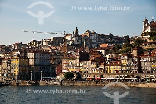 Assunto: Cais do Ribeira da cidade do Porto visto de Vila Nova de Gaia / Local: Porto - Portugal - Europa / Data: 10/2010