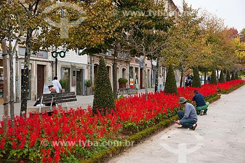 Assunto: Calçadão da Avenida da Liberdade  / Local: Distrito Barcelos - Braga - Portugal - Europa / Data: 10/2010