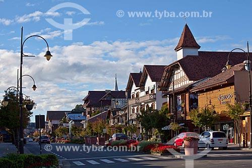 Assunto: Rua de Gramado - Cidade de colonização alemã e italiana / Local: Gramado - Rio Grande do Sul (RS) - Brasil / Data: 03/2011