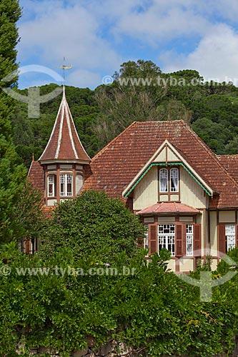 Assunto: Castelinho Caracol, arquitetura de influência alemã da região da Bavária,  construída em 1913, atualmente uma Casa de Chá - Museu da Família Franzen / Local: Canela - Rio Grande do Sul (RS) - Brasil / Data: 03/2011