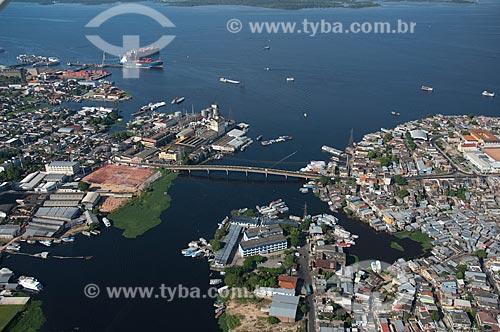 Assunto: Vista aérea do Igarapé de Educandos / Local: Manaus - Amazonas (AM) - Brasil / Data: 06/2007