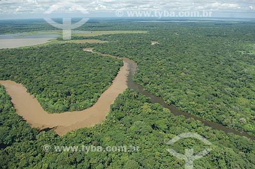 Assunto: Vista aérea de várzea de rio / Local: Departamento de Santa Cruz - Bolívia - América do Sul / Data: 03/2008
