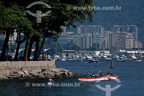 Assunto: Canoa havaiana na Enseada de Botafogo / Local: Urca - Rio de Janeiro (RJ) - Brasil / Data: 04/2011