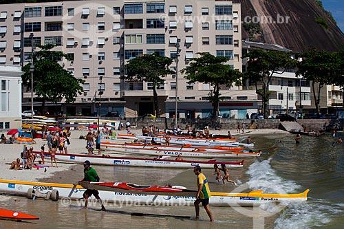 Assunto: Canoa havaiana na Praia da Urca / Local: Urca - Rio de Janeiro (RJ) - Brasil / Data: 04/2011