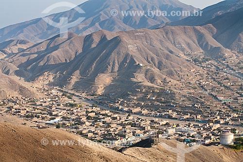 Assunto: Vista da cidade de Coishco a partir da Duna Huamanchacate.  / Local: Coishco - Departamento de Ancash - Peru - América do Sul / Data: 07/05/2011