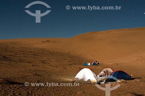 Assunto: Acampamento no cume do Cerro Blanco, a duna mais alta do mundo / Local: Nasca - Departamento de Ica - Peru - América do Sul / Data: 18/05/2011