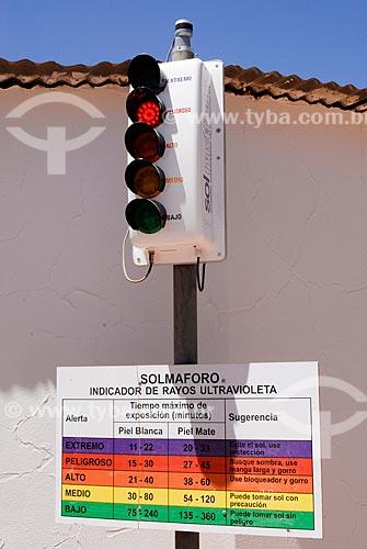 Assunto: Solmáforo - Avalia os raios de ultravioleta do local / Local: San Pedro de Atacama - Norte do Chile - América do Sul / Data: 01/2011