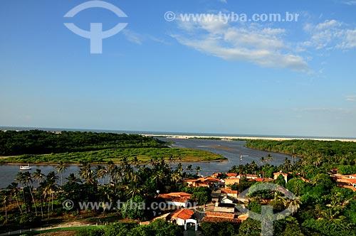 Assunto: Vista do farol de Mandacarú - vilarejo de Caburé às margens do Rio Preguiças / Local: Barreirinhas - Maranhão (MA) - Brasil / Data: 07/2011