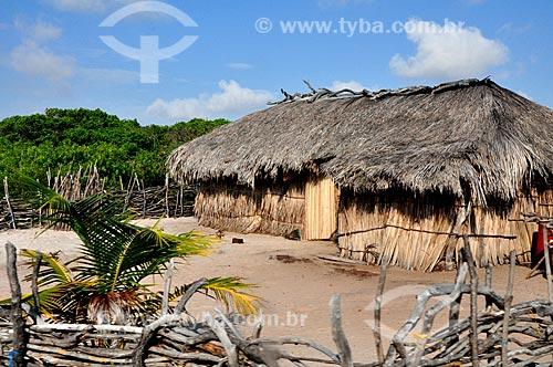 Assunto: Vista de uma casa de palha / Local: Vilarejo Queimada dos Britos - Maranhão (MA) - Brasil / Data: 07/2011