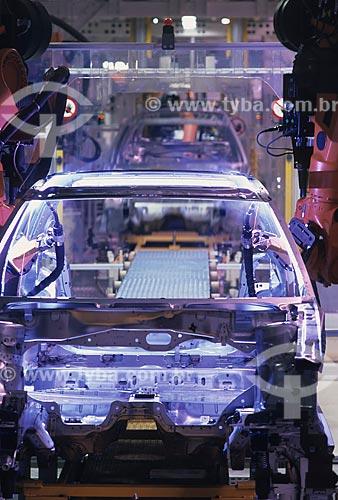 Assunto: Linha de montagem de automóveis - Volkswagen / Local: São José dos Pinhais - Paraná (PR) - Brasil / Data: 11/1999