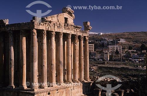 Assunto: Ruínas romanas - Heliópolis (cidade do sol) / Local: Baalbeck - Vale do Bekáa - Líbano - Oriente Médio / Data: 2004