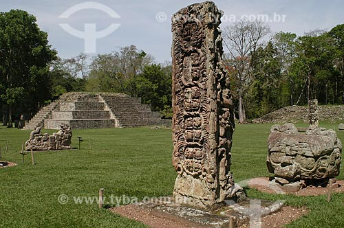Assunto: Ruína Maia / Local: Departamento de Copán - Honduras / Data: 06/2004