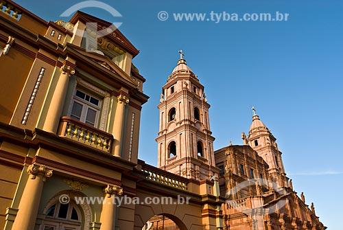 Assunto: Vista da Catedral Angelopolitana localizada na Praça Pinheiro Machado / Local: Santo Angelo - Rio Grande do Sul - Brasil / Data: 01/2010