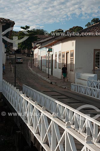 Assunto: Ponte de madeira e casario colonial / Local: Goiás - Goiás (GO) - Brasil / Data: 07/2011