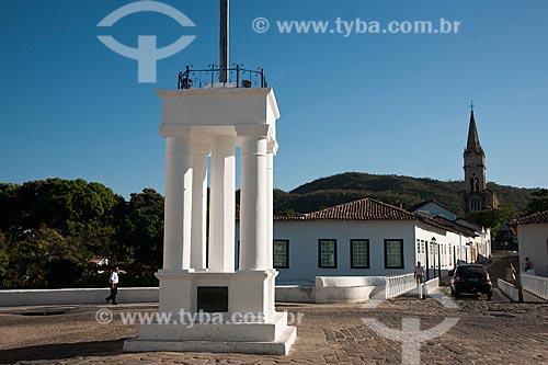 Assunto: Museu e casa da poetisa Cora Coralina e Igreja do Rosário ao fundo / Local: Goiás - Goiás (GO) - Brasil / Data: 07/2011