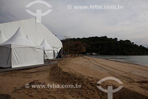 Assunto: Tenda montada para a Festa Literária Internacional de Paraty  -  FLIP  / Local: Paraty  -  Rio de Janeiro  ( RJ )   -  Brasil / Data: 07/2011