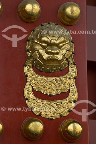 Assunto: Detalhe de desenho representando dragão na Cidade Proibida / Local: Pequim - China - Ásia / Data: 05/2010