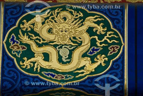 Assunto: Detalhe de desenhos e símbolos nas construções da Cidade Proibida / Local: Pequim - China - Ásia / Data: 05/2010
