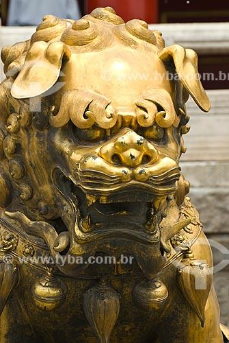 Assunto: Estátua de Leão imperial chinês na Cidade Proibida / Local: Pequim - China - Ásia / Data: 05/2010