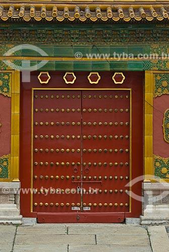 Assunto: Detalhe de porta na Cidade Proibida / Local: Pequim - China - Ásia / Data: 05/2010