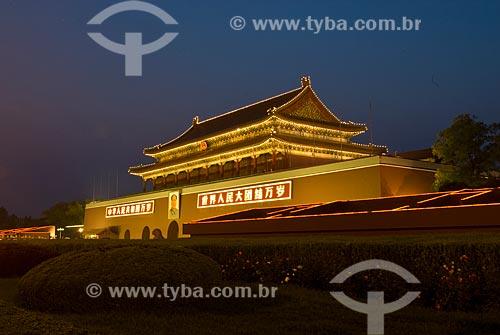 Assunto: Vista da Cidade Proibida à noite / Local: Pequim - China - Ásia / Data: 05/2010