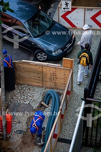 Assunto: Obras de instalação de cabeamento subterrâneo de banda larga na Rua Francisco Otaviano / Local: Copacabana - Rio de Janeiro (RJ) - Brasil / Data: 07/2011
