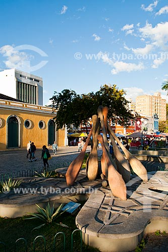 Assunto: Monumento aos Bilros no Largo da Alfândega / Local: Florianópolis - Santa Catarina (SC) - Brasil / Data: 08/2011