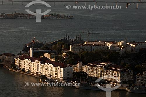 Assunto: Vista aérea da Ilha das Cobras / Local: Centro - Rio de Janeiro (RJ) - Brasil / Data: 08/2011