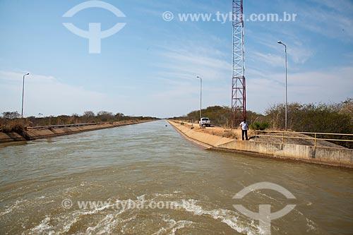 Assunto: Canal principal de irrigação do Projeto Jaíba que capta água do Rio São Francisco / Local: Distrito Mocambinho - Jaíba - Minas Gerais (MG) - Brasil / Data: 09/2011