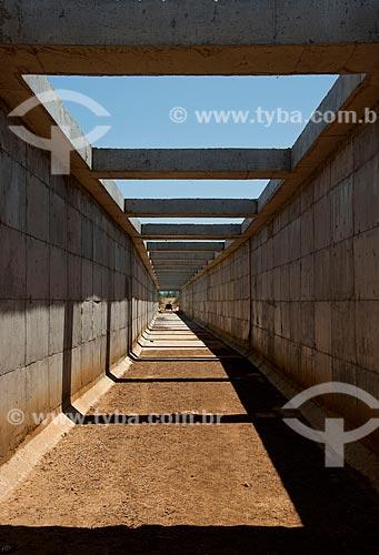 Assunto: Aqueduto da Transposição do Rio São Francisco - Projeto de Integração do Rio São Francisco com as bacias hidrográficas do Nordeste Setentrional / Local: Sertânia - Pernambuco (PE) - Brasil / Data: 10/2011
