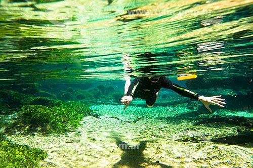 Assunto: Mergulhador no Rio da Prata / Local: Jardim - Mato Grosso do Sul (MS) - Brasil / Data: 10/2010