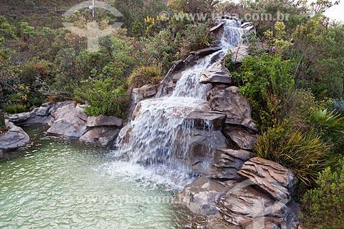 Assunto: Cachoeira na Pousada Estalagem do Mirante na Serra da Moeda  / Local: Brumadinho - Minas Gerais (MG) - Brasil / Data: 11/2011